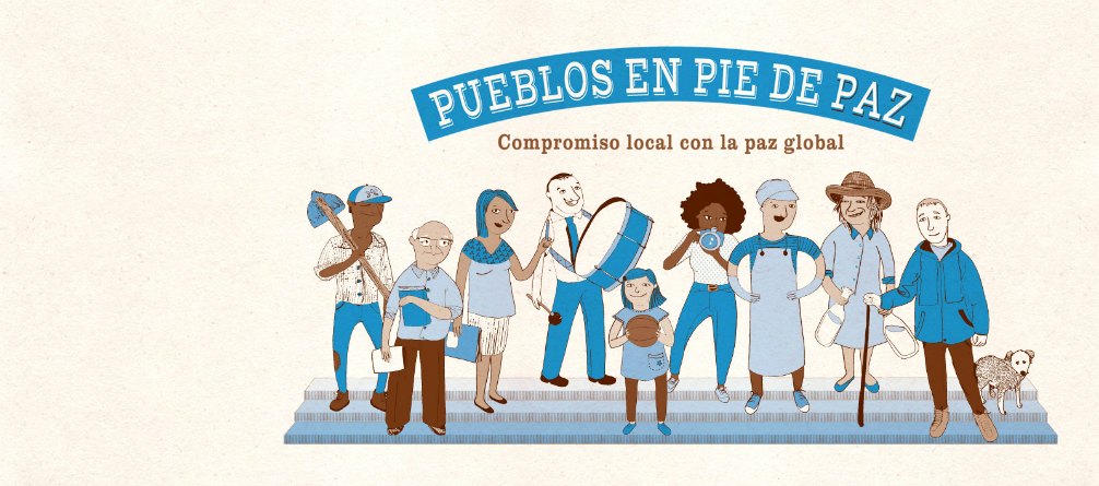 En la calle la Campaña: PUEBLOS EN PIE DE PAZ